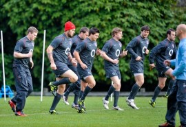 England Rugby training session – England backs take part in training